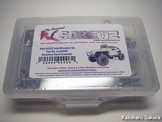 Axial(アキシャル)・SCX10・ジープ ラングラー G6 製作記 ~ RCScrewZ & Hobbies Axial SCX10 Jeep Wrangler G6 Stainless Steel Screw (axi008)(ステンレス製ビス)